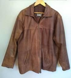 Jaqueta couro legítimo masculina