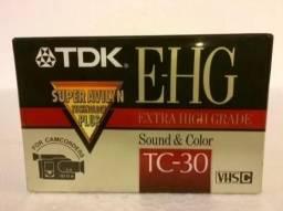 Fita De Vídeo Tdk Ehg Tc-30 Virgem Para Filmadoras
