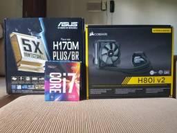 Kit Gamer Upgrade I7 7700 + 16GB DDr4 + H170 + WaterCooler H80iv2
