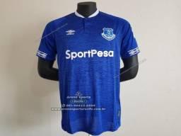 ffee2c3f70 Camisa Everton 2018 19 - Uniforme Titular