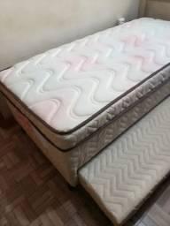 Cama de solteiro molas com cama auxiliar...