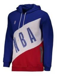 Moletom Nba Basket Azul E Branco