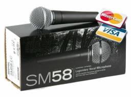 Microfone Com Fio Wvngr- M58. Acompanha Cabo De 5m