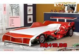 Cama solteiro carro F1