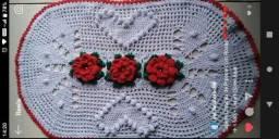 Tapete de Crochê Coração de Pipoca