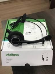 Headset com microfone cancelador de ruido CHS55 4012145 intelbras