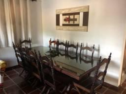 Mesa Madeira Jacarandá com 10 cadeiras