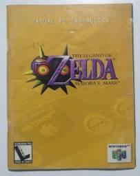 Manual Jogo The Legend Of Zelda Majoras Mask Português N64
