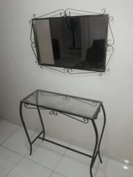 Conjunto aparador e espelho