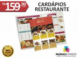 Cardápio personalizado para lanchonete e restaurante.