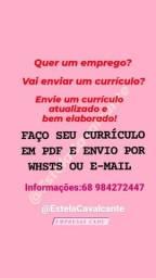 FAÇO CURRÍCULO, ELABORO