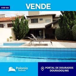 Casa à venda com 4 dormitórios em Portal de dourados, Dourados cod:122