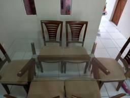 Conjunto de sala de jantar retangular