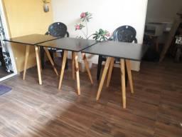 Fabricação mesas pe palito