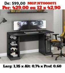 Mesa de Computador ou Escrivaninha Gamer Lindissima-Pagamento e Entrega Gratis