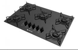 Fogão cooktop a gás Atlas Agile 5Q preto 110V/220V