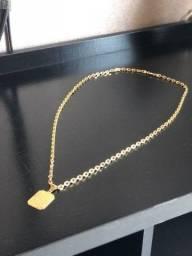 Corrente banhada a ouro 35 cm