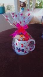 Caneca porcelana com bombons dia das mães!!!