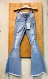 Calça flare jeans seminova( 40)