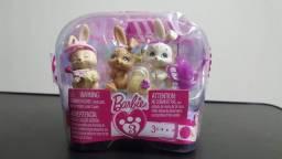 Barbie: Luv Me 3 Mini Pet Playsets Bunnies - Novo