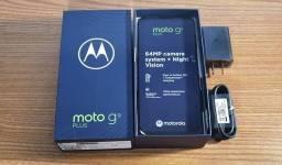 Smartphone Moto G9 Plus na caixa