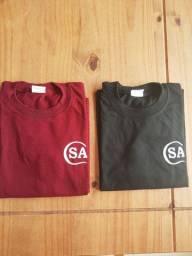 Camiseta Uniforme Colégio Santana Tam 8 R$ 10,00 cada