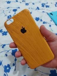Capa Imitando Madeira IPhone 6 Plus ou 6S Plus - Produto Único no Brasil