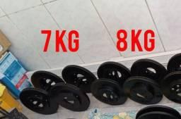 Par de halteres 8 kg e 7 kg