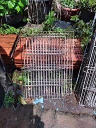 Grades de ferro para gaiolas