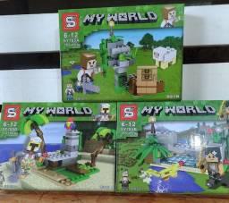 Minecraft Lego Miniblocks  My World 330 peças