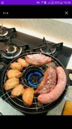 Churrasqueira para fogão sem fumaça muito prática 30  reais