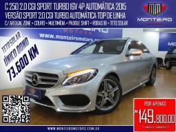 Mercedes-Benz C 250 2.0 CGI Sport Turbo Aut Top de Linha C/ Teto Solar 73.600 Km
