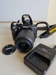 Câmera Nikon d3100 + lente 18-55 + 1 bateria