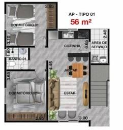 Título do anúncio: Apartamento Novo Mogi Das Cruzes em construção. entrada parcelada e financiamento