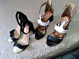 2 pares de sandalias 37