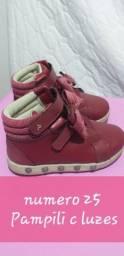 Lote calçados menina n° 23 ao 25