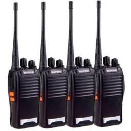 Kit 4 Radios Comunicação Ht Uhf Vhf 16 Canais Baofeng