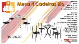 Mesas 4 cadeiras Rio e Marabá