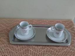 """Título do anúncio: Conjunto de xícaras para """"Bodas de Prata"""""""