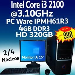 Intel Core i3 2100 @3.1GHz Computador PC ( Troco )