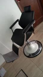 Cadeira Barbeiro Hidráulica Reclinável Maletti