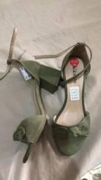 sandália mulher  liberte verde militar