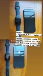 IPhone X 64 GB e Apple Watch 3 de 38mm