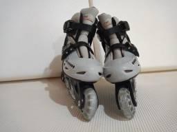 Patins Roller In-line (Cinza) (Ajustável do 29 ao 32) BelSports