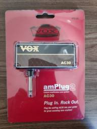 Amplug Vox ac30 novo - amplificador para fone de ouvido - guitarra/baixo/violão