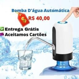 Bomba para Galão Torneira Elétrica Bebedouro Água Recarregável