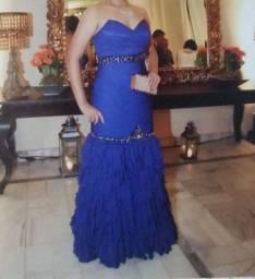 Vestido longo Importado Sereia Azul Royal