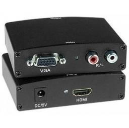 Conversor Adaptador Vga P/ Hdmi C/ Áudio - Lelong LE-4112