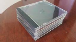 Capa Estojo Caixa acrílica para CD - suporte preto - espessura padrão - Leia anúncio