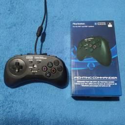 Controle oficial Playstation para jogos de luta e arcades